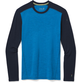 Smartwool Merino 250 Maglietta Girocollo Baselayer Uomo, neptune blue heather/deep navy